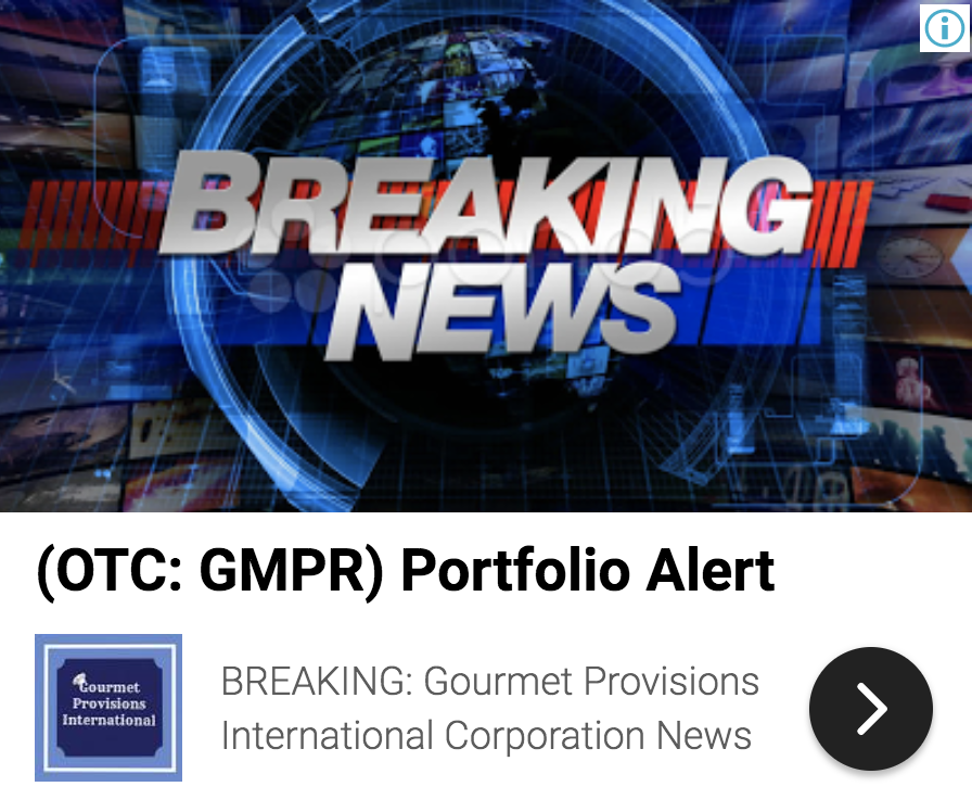 stock market news, gourmet provisions international corp gmpr receives  8384881409729272