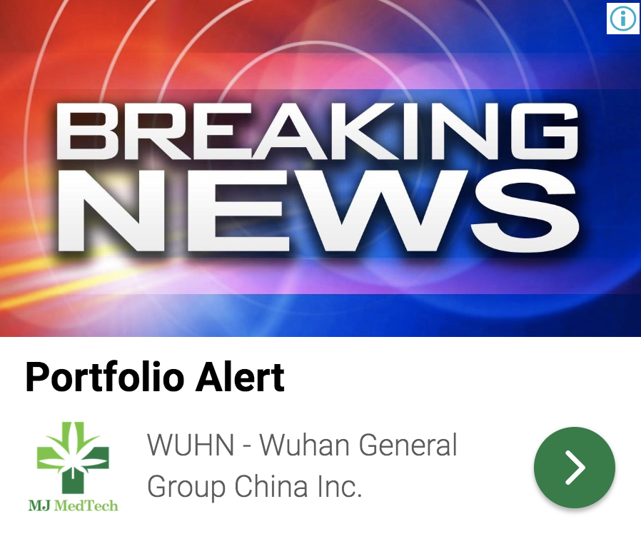 stock market news, wuhan general group inc otcmkts wuhn short squeeze mwn news 959