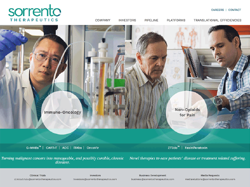 SRNE Articles, Sorrento Therapeutics Inc.